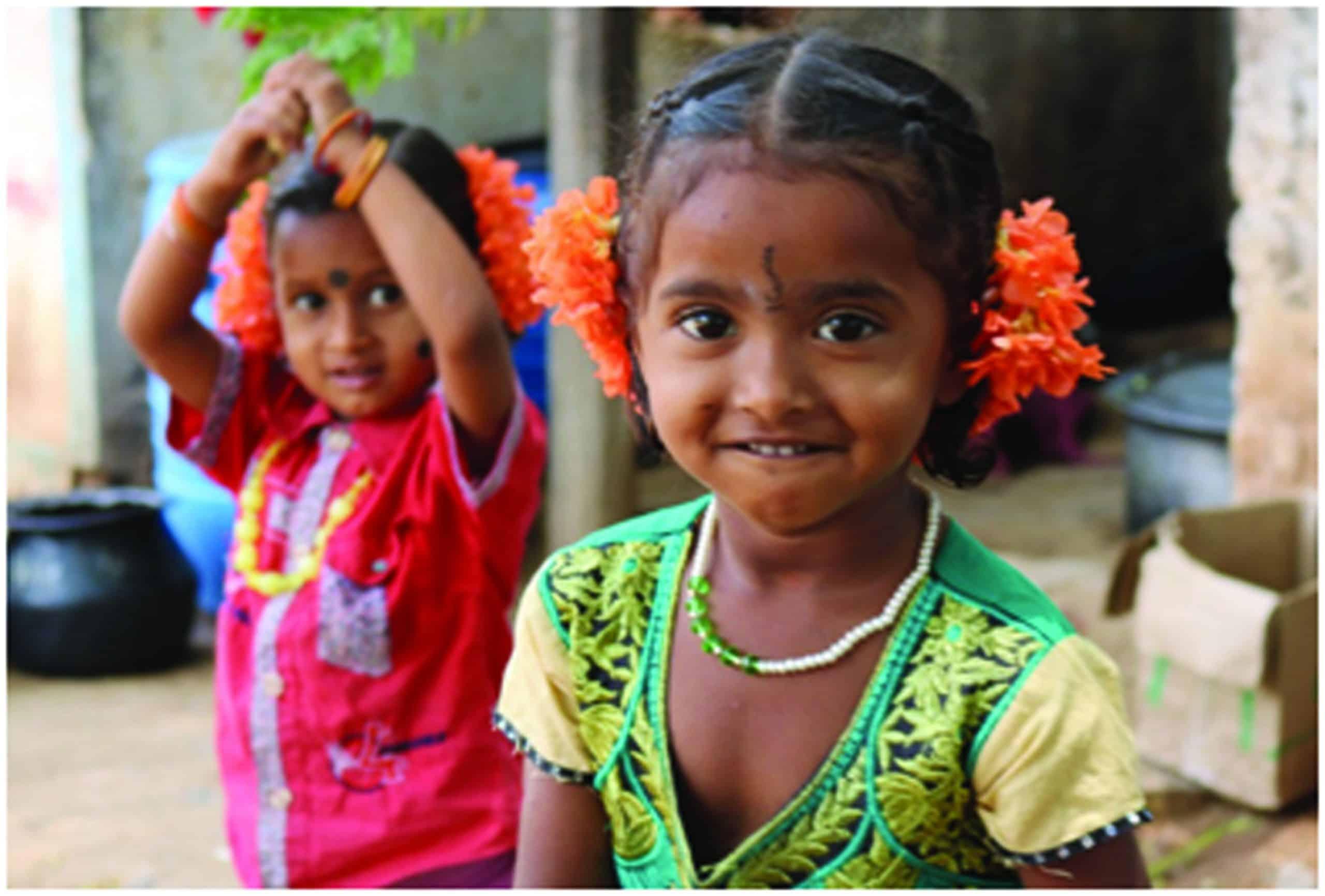 girls at the Jawadhi Hills Summer camp